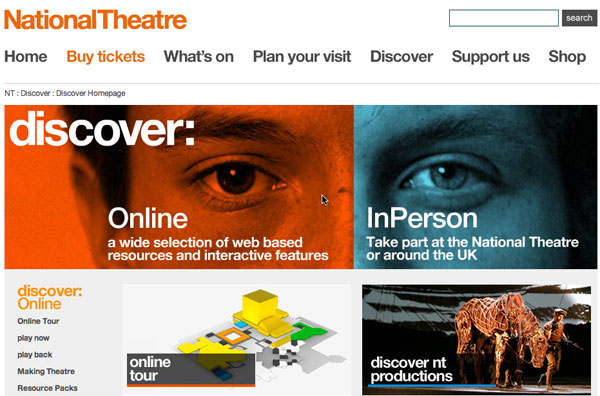 National Theatre Discover program